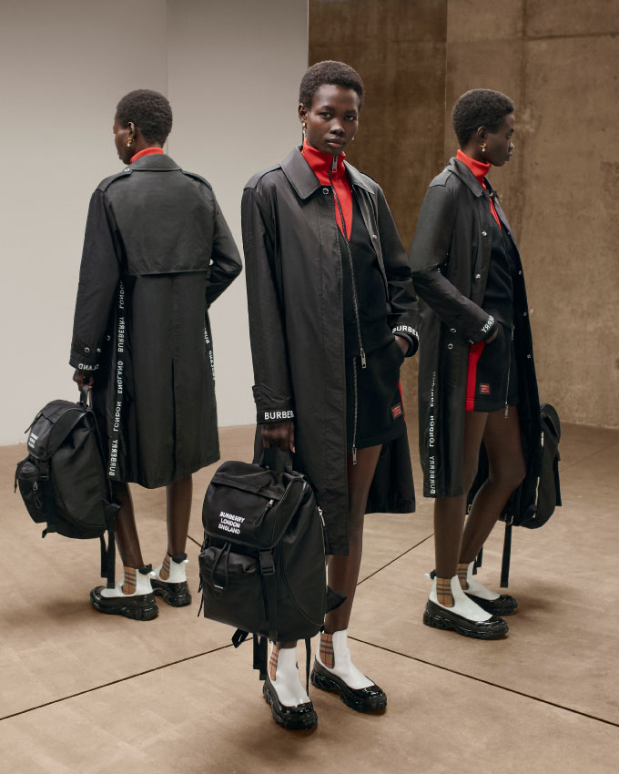 Burberry capsule collection in ECONYL® yarn