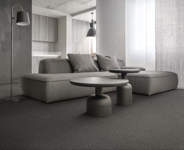Interior Of Modern Flat With Different Textured Walls